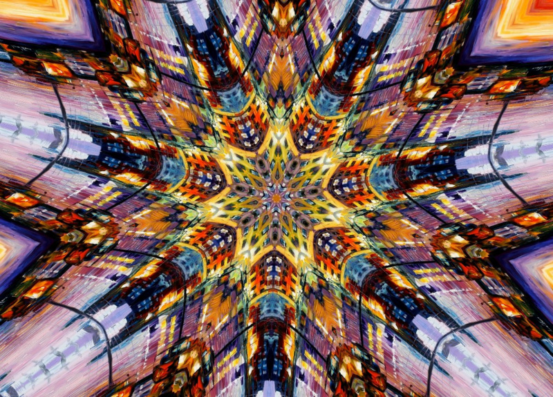Kaleidoscope Photo Effect