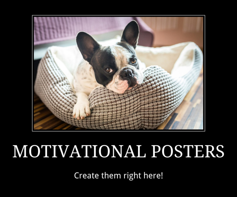Create a motivational poster